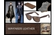ray ban leather